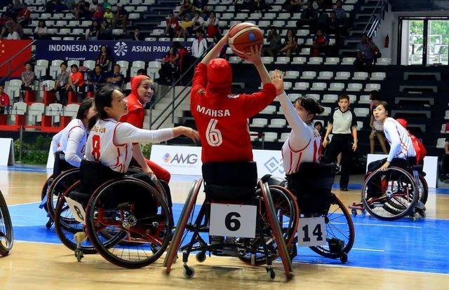 چهارمی تیم ملی بسکتبال باویلچر بانوان در بازی های آسیایی