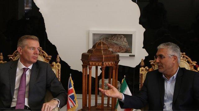 دیدار استاندار فارس و سفیر انگلستان در ایران