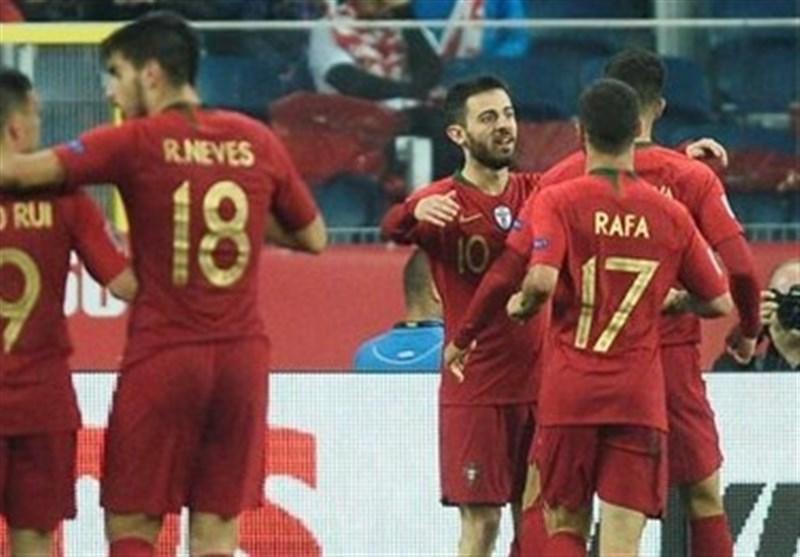 فوتبال دنیا، پیروزی پرتغال در خانه اسکاتلند در بازی دوستانه