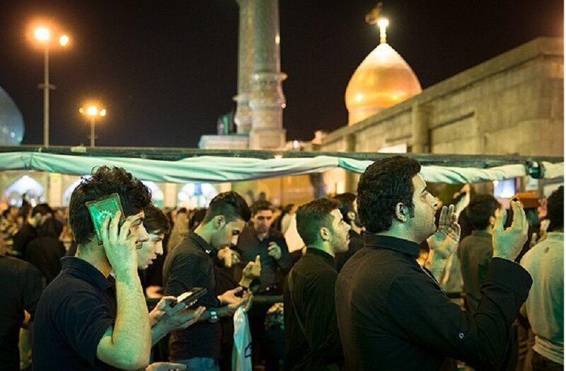 خبرنگاران قبله تهران در شب وفات حضرت عبدالعظیم (ع) به سوگ نشست