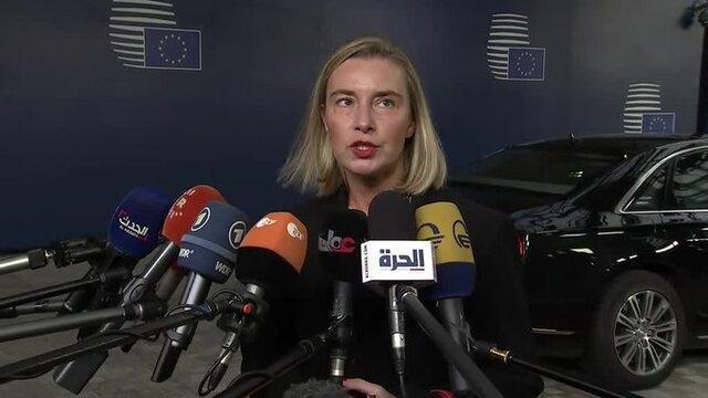 موگرینی: امروز با وزیران خارجه اروپا درباره اقدامات برجامی ایران مذاکره می کنیم