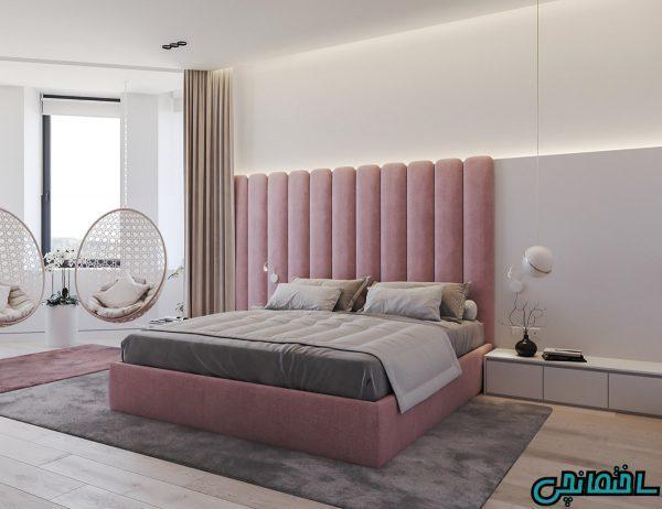 تصاویر ترکیب رنگ خاکستری با صورتی و سبز در طراحی خانه