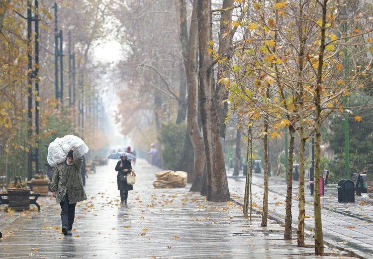 پیش بینی بارش باران در تهران و شمال غرب کشور