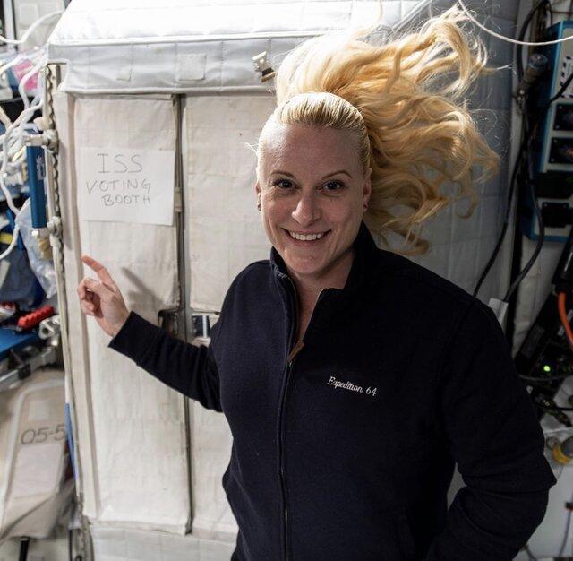 فضانورد ناسا در ایستگاه فضایی رأی داد