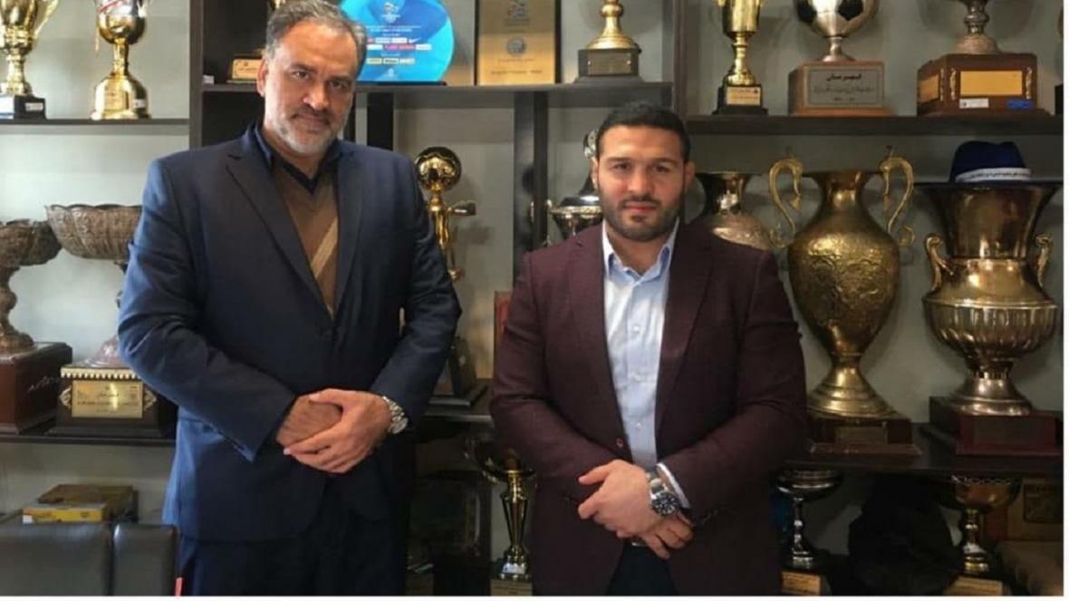 دیدار سرمربی تیم کشتی استقلال با احمد مددی