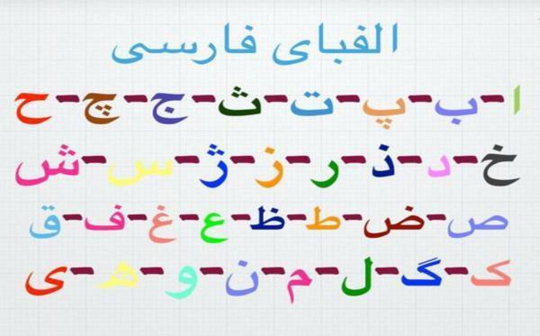 جدول و اسامی حروف الفبا فارسی برای بچه ها؛ حروف الفبا از الف تا