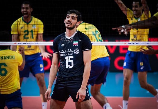 لیگ ملت های والیبال، ایران یک - برزیل 3؛ تیمِ آلکنو به برزیل هم نه نگفت، ششمین باخت تیمی که روی دور ناکامی است