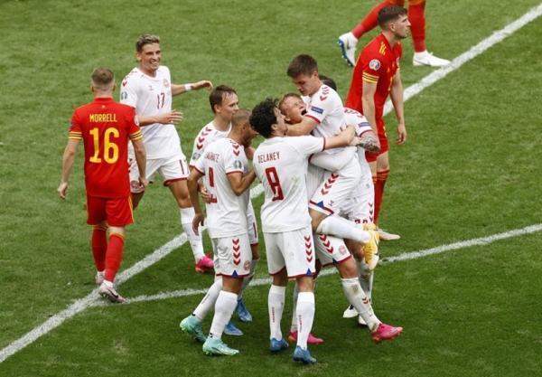 یورو 2020، پیروزی یک نیمه ای دانمارک مقابل ولز