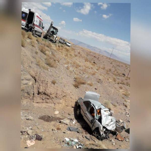 شش کشته و زخمی در حادثه ترافیکی محور راین به جیرفت